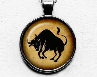 Zodiac Taurus Pendant and Necklace