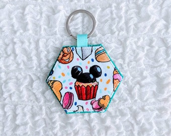 Hexagon Fabric Keychain