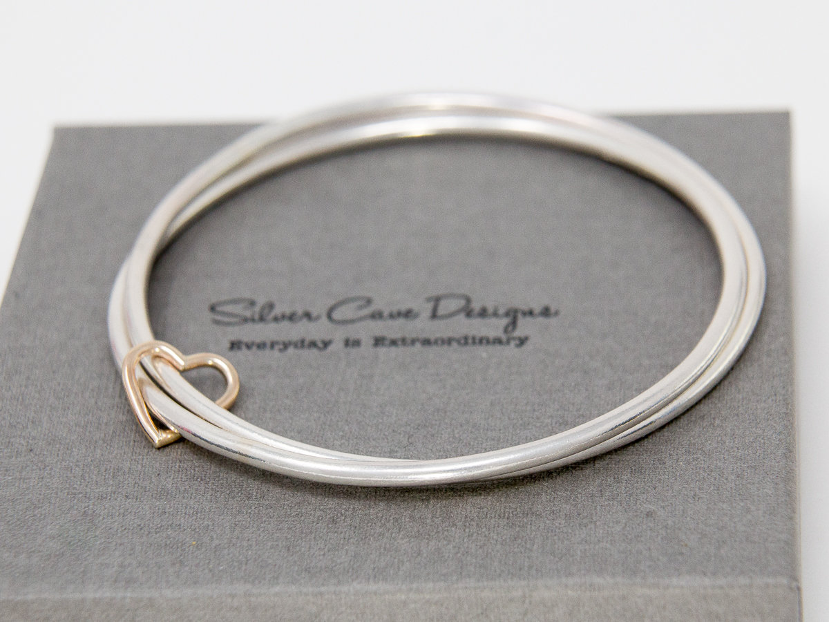 alternative mail bangles white by water image silver bangle jewellery htm