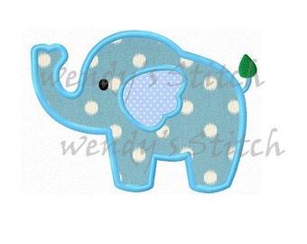 Elephant applique machine embroidery design