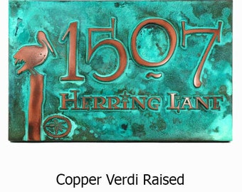 Perched Pelican Address Sign Home Numbers Plaque Custom for you 16x10.5 inches by Atlas Signs