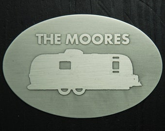 Personalized Airstream and RV Plaque