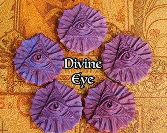 "Wax Melt- Eye of Providence ""Divine Eye"" Purple Naturally Scented Vegan Soy for Divination, Psychic Work, Clairvoyance, Intuitive Perception"