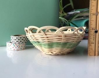 "Hand woven basket titled ""Tinker Dust"" Authentic Native America Art double wall basket handmade basket"