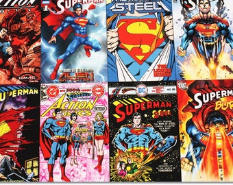 Superman Character Oxford Fabric made in Korea, Man of Steel, DC Comics Fabric / Half Yard