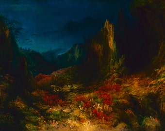 Edward Moran: The Valley in the Sea. Fine Art Print/Poster (0016)