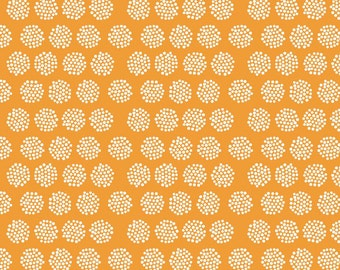Good Natured Fireflies in Orange by Riley Blake - 1/2 yard, 1/2 yard increments
