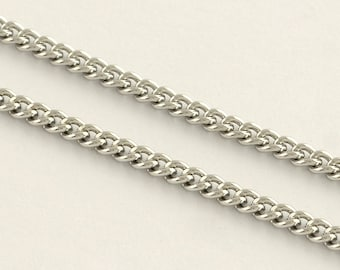 20 cm Stainless Steel Curb Chain 304 Grade 2 mm| Stainless Chain | 126-SS