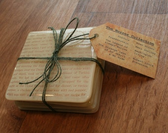 Set of 4 Literary Coasters - With Tag