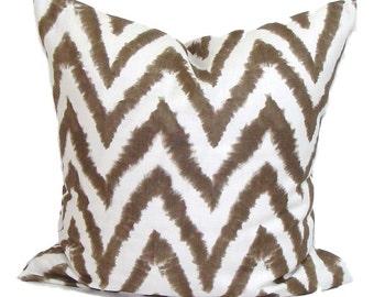 "CHEVRON PILLOW SALE for 20x20"" Pillow Forms. Brown Pillow, Pillow Cover, Decorative Pillow, Throw Pillow, Pillow, Brown Pillow Cover"