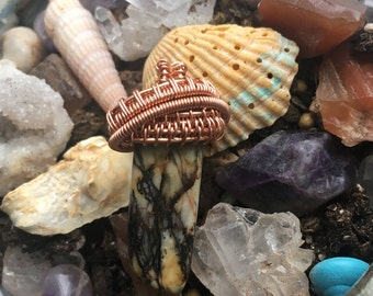 Stone and Copper pendant