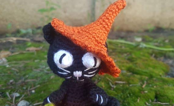 Amigurumi Gato Negro : Gato gato negro halloween regalo gato decoración gato amante