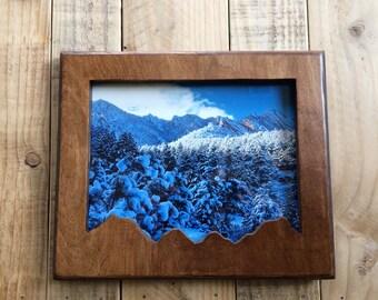 8x10 Wooden Mountain Frame