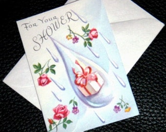 vintage cards ... For YOUR SHOWER announcement CARD ...