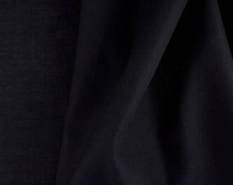 High quality cotton poplin, black