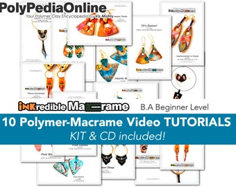 Macrame Jewelry, Macrame Gift, How to Macrame, Fimo Jewelry, DIY Bridal Jewelry, DIY Macrame, Polymer Clay, Macrame Pattern, Craft, Tutorial