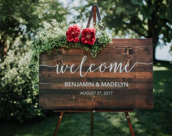 Wedding signs etsy wedding welcome sign junglespirit Choice Image