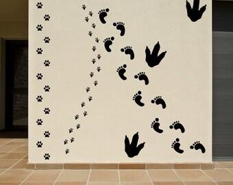 Footprints Set Vinyl Decals