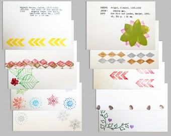 Set of 10 book postcards, Dewey Decimal, library postcards, classic literature postcards set, stamped postcards, vintage postcards
