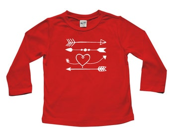 Love Arrows - Valentine's Day long sleeve t-shirt for baby and toddler, gender neutral