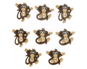 Jesse James Buttons Button  Embellishments Sew Cute Monkeys Monkey