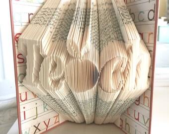 Folded book art: Teach