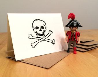 Skull & Crossbones Greeting Cards - Blank 5 Pack