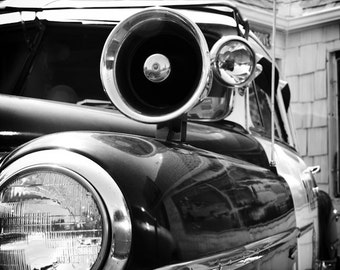 Police Car Vintage Oklahoma City - Fine Art Photograph - Police Car Siren