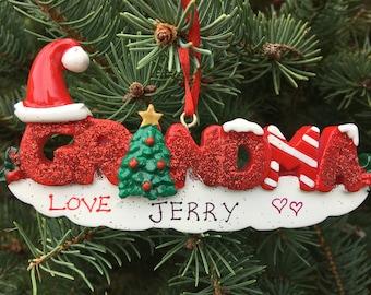 Personalized Christmas ornament for Grandma