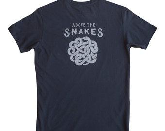Men's Gift //  Men's unisex illustrated snake t-shirt, funny shirt, illustrated slogan shirt, gift for him