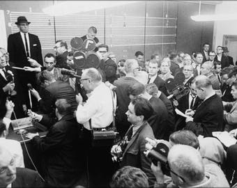 Poster, Many Sizes Available; Henry Wade 1963 Press Conference Nywts