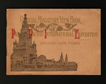 1915 Panama Pacific Exposition Souvenir Photos Miniature View Book, 70 photos, San Francisco