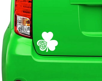 Celtic Shamrock sticker, decal, your choice of color