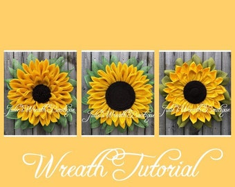 Flower Trio Tutorial, Wreath Tutorials, Julie's Wreath Boutique Tutorials, Sunflower Tutorial, DIY, Video Tutorial, Make Your Own Wreath