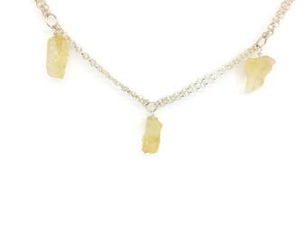 Citrine necklaces, Natural citrine necklace, Necklace citrine, Natural stone necklace, Citrine stone, Raw citrine, Raw stone jewellery