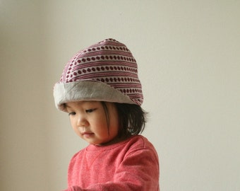 WOOL HAT - toddler, children / merino wool / linen hat / beanie / wool cloche / reversible / eco friendly / etsy australia / pamelatang