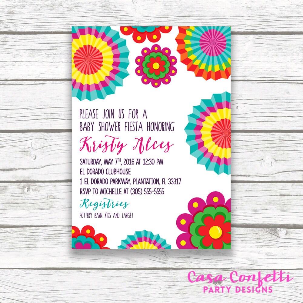 Fiesta Baby Shower Invitation, Cinco de Mayo Baby Shower Invitation ...