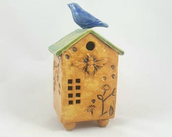 Ceramic house, pottery house, little clay house, minature house, pottery anniversary, housewarming gift, wedding gift, tiny garden house