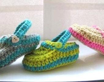 Crochet Baby Booties Pattern, Booties Crochet Pattern,Crochet Baby Slipper Pattern for Boys or Girls