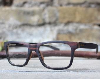 Ebony Wood glasses by Paul Ven, wayfarer wooden glasses, wood optical glasses, wooden eyewear glasses, Black Prescription Wooden Glasses,