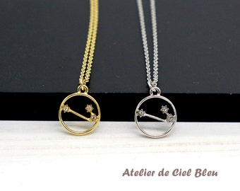 Aries Necklace, Gold / Silver Aries Necklace, Aries Constellation Necklace, Zodiac Aries Necklace, Aries Jewelry, Horoscope Jewelry
