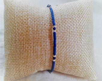 Ethnic Lapis Lazuli gemstone bracelet