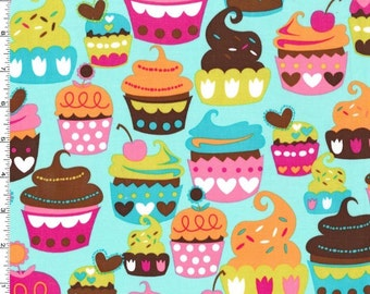 Sweet Treats on Turquoise from Michael Miller