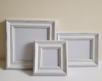 Picture frame A2 frame distressed frame shabby chic frame wood frame rustic frame home decor crafts solidwoodshop