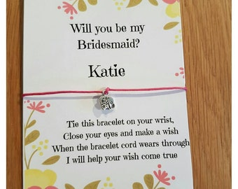 Handmade Bridesmaid / Flowergirl / Maid of Honour / Hen Night / Party / Friendship / Wish Bracelets party favours