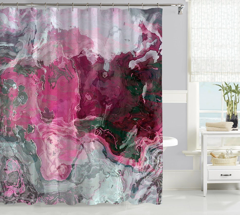 contemporary shower curtain waterproof fabric shower curtain. Black Bedroom Furniture Sets. Home Design Ideas
