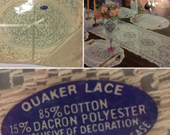 Quaker-lace Table Setting Placemats & Napkins USA New in Package