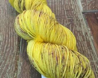 Hand Dyed Superwash Merino Nylon Sock Yarn, 100g/3.5oz, 'Bananadrama'