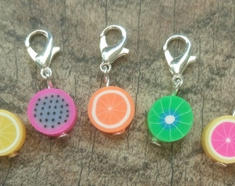 Fruit Salad Fimo Stitch Marker Set