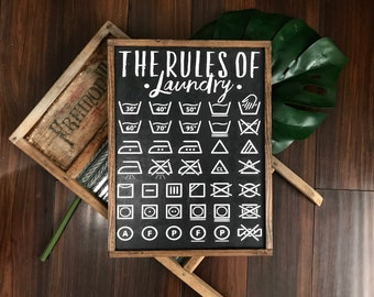 The rules of laundry, laundry, laundry sign, laundry room decor, laundry room art, laundry room signs, laundry print, housewarming gift,